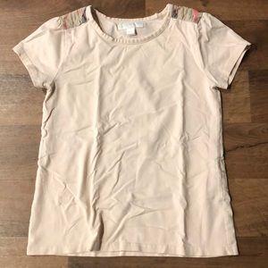 Burberry Children Shirt Size 10Y Short Sleeve